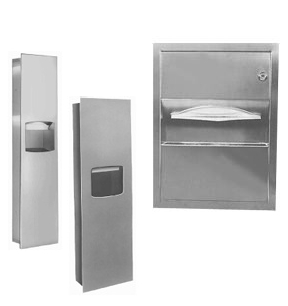 paper towel dispenser and waste receptacle units for commercial bathrooms - Commercial Bathroom Paper Towel Dispenser